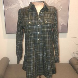 Women's NSF L/S Button Down Plaid Shirt Small $245